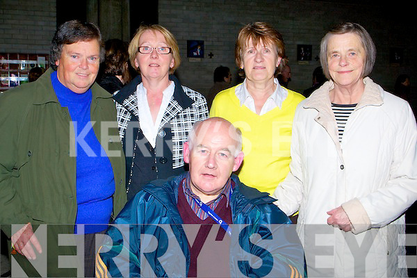 CONCERT: Enjoying Our Lady & St Brendan's Church 40th Anniversary concert in the Our lady & St Brendans church Tralee, on Sunday evening, L-r: Mary Walsh, Kay O'Shea, Kit Ryan, Kathleen Goodall and Denis Stack. ........................ ..........