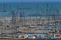 Baku, Azerbaijan, 03/12/2004..Dilapidated SOCAR [State Oil Company of Azerbaijan Republic] oil fields......