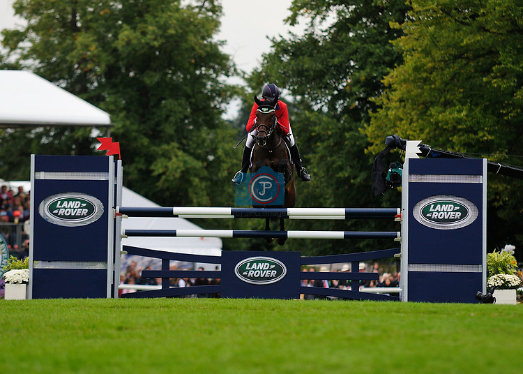 3rd September 2017. Lauren Kieffer (USA) riding Veronica II during the Show Jumping Phase of the 2017 Land Rover Burghley Horse Trials, Stamford, United Kingdom. Jonathan Clarke/JPC Images