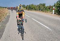 Team Jumbo-Visma controlling the peloton with Tony Martin (DEU/Jumbo-Visma) up front (again)<br /> <br /> Stage 2: Vienne to Col de Porte (135km)<br /> 72st Critérium du Dauphiné 2020 (2.UWT)<br /> <br /> ©kramon