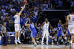 North Carolina Tar Heels forward Luke Maye shoots the game winning three pointer against the Kentucky Wildcats during the 2017 NCAA Men's Basketball Tournament South Regional Elite 8 at FedExForum in Memphis, TN on Friday March 24, 2017. Photo by Michael Reaves | Staff