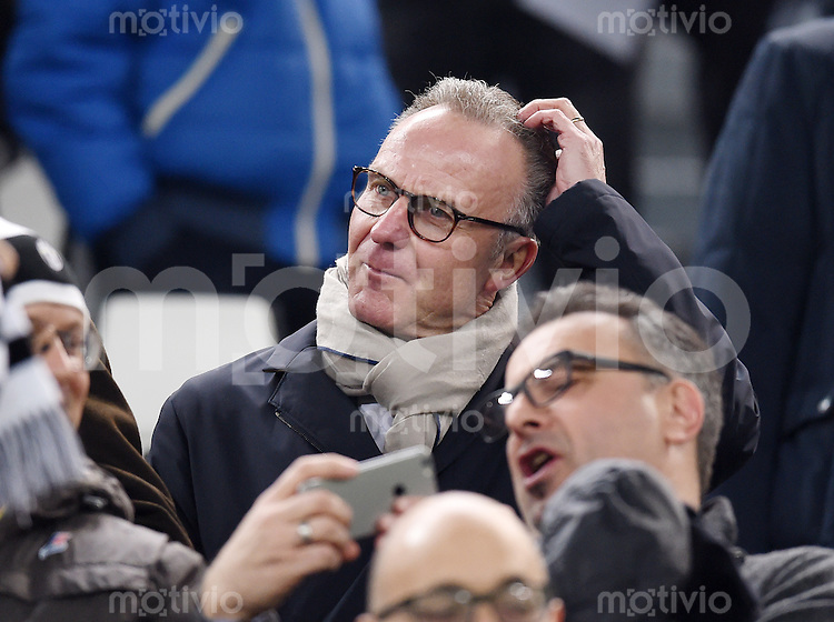 FUSSBALL CHAMPIONS LEAGUE  SAISON 2015/2016 ACHTELFINAL HINSPIEL Juventus Turin - FC Bayern Muenchen             23.02.2016 Vorstandsvorsitzender Karl Heinz Rummenigge (Bayern Muenchen)