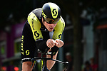 Alexander Edmondson (AUS) Mitchelton-Scott in action during the opening Prologue of the 2018 Criterium du Dauphine running 6.6km around Valence, France. 3rd June 2018.<br /> Picture: ASO/Alex Broadway | Cyclefile<br /> <br /> <br /> All photos usage must carry mandatory copyright credit (&copy; Cyclefile | ASO/Alex Broadway)