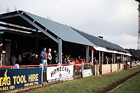 Main stand at Boreham Wood FC Football Ground, Meadow Park, Borehamwood, Hertfordshire, pictured on 10th February 1996