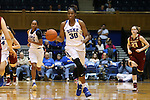17 January 2016: Duke's Amber Henson. The Duke University Blue Devils hosted the Boston College Eagles at Cameron Indoor Stadium in Durham, North Carolina in a 2015-16 NCAA Division I Women's Basketball game. Duke won the game 71-51.