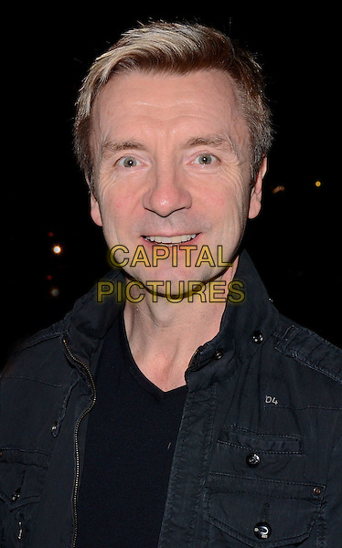 LONDON, ENGLAND - APRIL 1: Christopher Dean leaves Wembley Arena after the evening show of Dancing on Ice Tour, Wembley on April 1, 2014 in London, England<br /> CAP/PP/MB<br /> &copy;Michael Ball/PP/Capital Pictures