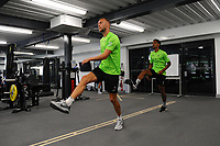 Mike van der Hoorn of Swansea City in the gym during the Swansea City Training at The Fairwood Training Ground in Swansea, Wales, UK. Wednesday 07 August 2019