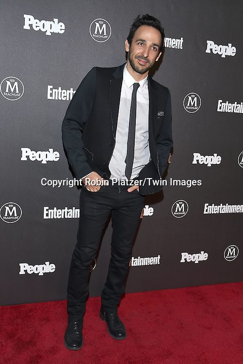 Amir Arison attends the Entertainment Weekly &amp; PEOPLE Magazine New York Upfronts Celebration on May 16, 2016 at Cedar Lake in New York, New York, USA.<br /> <br /> photo by Robin Platzer/Twin Images<br />  <br /> phone number 212-935-0770