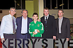 Awards night for Listowel Celtic Soccer Schoolboys/girls were held in St. Michaels College Listowel on Thursday night..Paddy Mulvihill, Ray Houghton, Maurice O'Keefe, Aidan O'Connor, Mikey Kelligher.