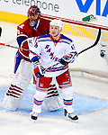 23 January 2010: New York Rangers' left wing forward Sean Avery stands in the Montreal crease looking for an opportunity during a game against the Montreal Canadiens at the Bell Centre in Montreal, Quebec, Canada. The Canadiens shut out the Rangers 6-0. Mandatory Credit: Ed Wolfstein Photo