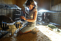 Pasados Safe Haven volunteers rescue animals after Hurricane Katrina struck New Orleans on September 15, 2005.  © Karen Ducey