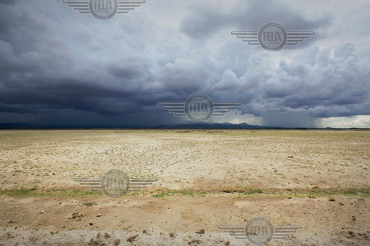 Heavy rains fall on Amboseli National Park ending a spell of drought of several years in this part of Kenya.