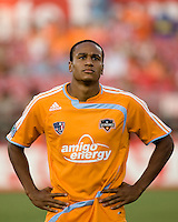 Houston Dynamo midfielder Ricardo Clark. The Houston Dynamo tied the Columbus Crew 1-1 in a regular season MLS match at Robertson Stadium in Houston, TX on August 25, 2007.
