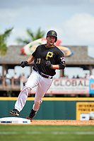 Pittsburgh Pirates third baseman David Freese (23) runs the bases during a Grapefruit League Spring Training game against the New York Yankees on March 6, 2017 at LECOM Park in Bradenton, Florida.  Pittsburgh defeated New York 13-1.  (Mike Janes/Four Seam Images)