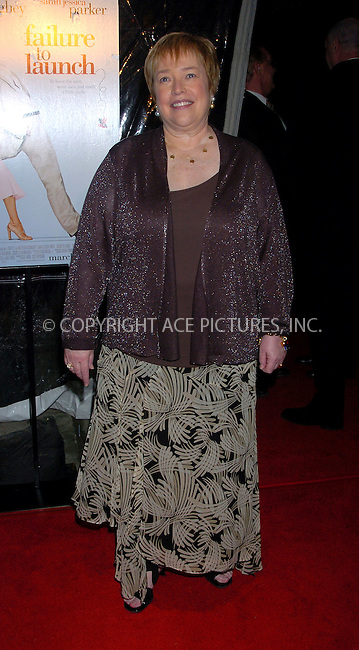 "WWW.ACEPIXS.COM . . . . . ....NEW YORK, MARCH 8, 2006....Kathy Bates at the ""Failure to Launch"" New York Premiere.....Please byline: AJ Sokalner - ACEPIXS.COM.... *** ***..Ace Pictures, Inc:  ..Philip Vaughan (212) 243-8787 or (646) 769 0430..e-mail: info@acepixs.com..web: http://www.acepixs.com"
