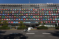 2017 Mainichi Shimbun office Olympic Flag Display