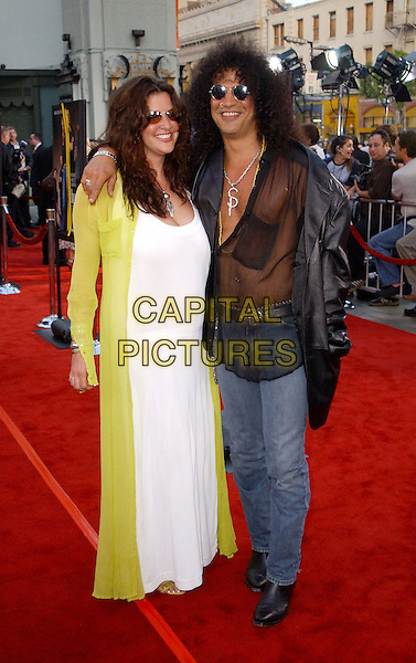 SLASH - GUNS'N'ROSES.The LA Premiere of The Italian Job held at Graumann's Chinese Theatre in Hollywood..www.capitalpictures.com.sales@capitalpictures.com.©Capital Pictures.medallion pendant.