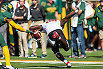 Texas Tech Red Raiders running back SaRodorick Thompson (28) in action during the game between the Texas Tech Red Raiders and the Baylor Bears at the McLane Stadium in Waco, Texas.