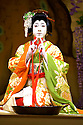 Kabuki from Tokyo. Fuji Musume with Ebizo Ichikawa XIin one of his first ever performance in th Onnogata[female] role of The Western Maidan.. Opens at Sadlers Wells Theatre on 31/5/06. CREDIT Geraint Lewis