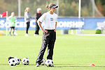 05 November 2008: Duke assistant coach Carla Overbeck. Boston College defeated Duke University 1-0 at Koka Booth Stadium at WakeMed Soccer Park in Cary, NC in a women's ACC tournament quarterfinal game.