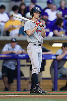 Georgia Bulldogs outfielder Stephen Wrenn #11 in action during the Southeastern Conference baseball game against the LSU Tigers on March 22, 2014 at Alex Box Stadium in Baton Rouge, La. The Tigers defeated the Bulldogs 2-1. (Andrew Woolley/Four Seam Images)