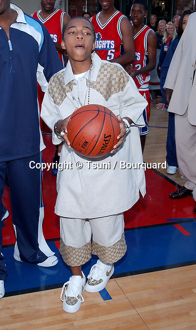Lil BowWow posing at the premiere of Like Mike at the Westwood Theatre in Los Angeles. June 27, 2002.