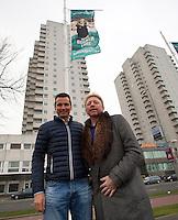 09-02-13, Tennis, Rotterdam, qualification ABNAMROWTT, Boris Becker and Richard Krajicek with the becker flag