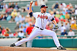 6 March 2012: Atlanta Braves pitcher Adam Russell on the mound during a Spring Training game against the Washington Nationals at Champion Park in Disney's Wide World of Sports Complex, Orlando, Florida. The Nationals defeated the Braves 5-2 in Grapefruit League action. Mandatory Credit: Ed Wolfstein Photo