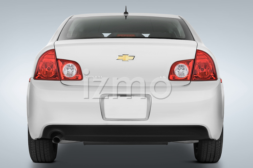Straight rear view of a 2008 Chevrolet Malibu Sedan