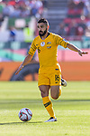 Aziz Behich of Australia runs with the ball during the AFC Asian Cup UAE 2019 Group B match between Palestine (PLE) and Australia (AUS) at Rashid Stadium on 11 January 2019 in Dubai, United Arab Emirates. Photo by Marcio Rodrigo Machado / Power Sport Images