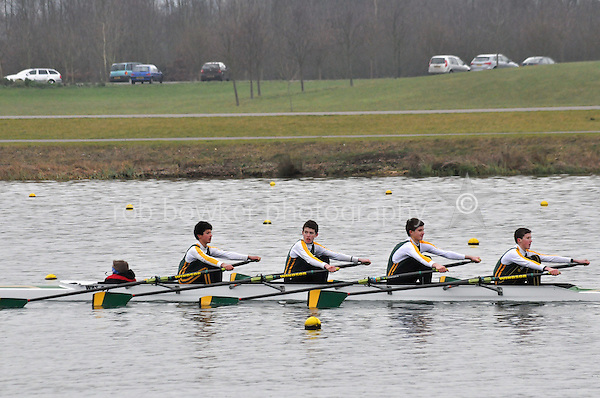 492 WindsorBoysSch J15A.4x+..Marlow Regatta Committee Thames Valley Trial Head. 1900m at Dorney Lake/Eton College Rowing Centre, Dorney, Buckinghamshire. Sunday 29 January 2012. Run over three divisions.