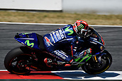 June 10th 2017,  Barcelona Circuit, Montmelo, Catalunya, Spain; MotoGP Grand Prix of Catalunya, qualifying day; Maverick Vinales (Movistar Yamaha)