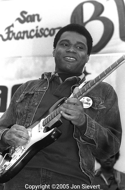 Robert Cray, Sept 1987, 92-19-26A, San Francisco Blues Festival. American blues guitarist and singer