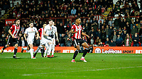 PENALTY - Daniel Bentley of Brentford sees his kick go over the goal during the Sky Bet Championship match between Brentford and Leeds United at Griffin Park, London, England on 4 November 2017. Photo by Carlton Myrie.