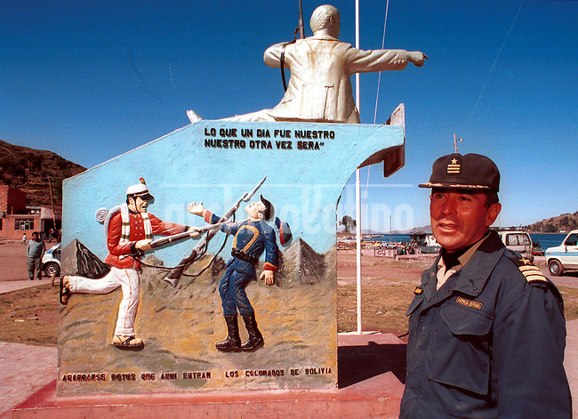 Armada Boliviana en la ciudad de San Pedro Tiquina*Bolivian Navy base in the town of San Pedro de Tiquina on the shore of Lake Titicaca, in this file photo taken