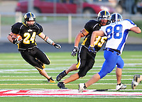 The Madison Mustangs top the West Allis Predators 39:6 Saturday night, 6/21/08, at Middleton High School Stadium
