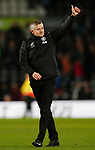 Ole Gunnar Solskjaer manager of Manchester United celebrates the win during the FA Cup match at the Pride Park Stadium, Derby. Picture date: 5th March 2020. Picture credit should read: Darren Staples/Sportimage