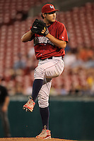 Lehigh Valley IronPigs pitcher Michael Schwimer during a game vs. the Buffalo Bisons at Coca-Cola Field in Buffalo, New York;  August 1, 2010.  Buffalo defeated Lehigh Valley 2-1 in 10 innings.  Photo By Mike Janes/Four Seam Images