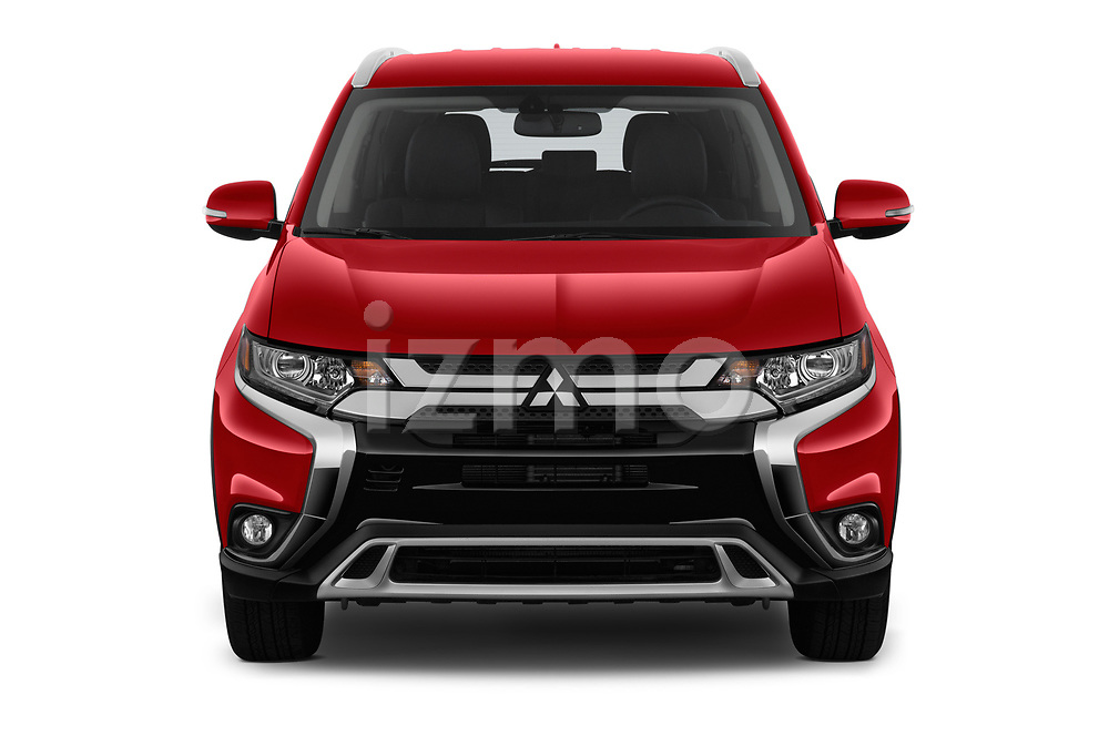 Car photography straight front view of a 2019 Mitsubishi Outlander SEL 5 Door SUV