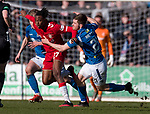 23.02.2020 St Johnstone v Rangers: Joe Aribo with Anthony Ralston