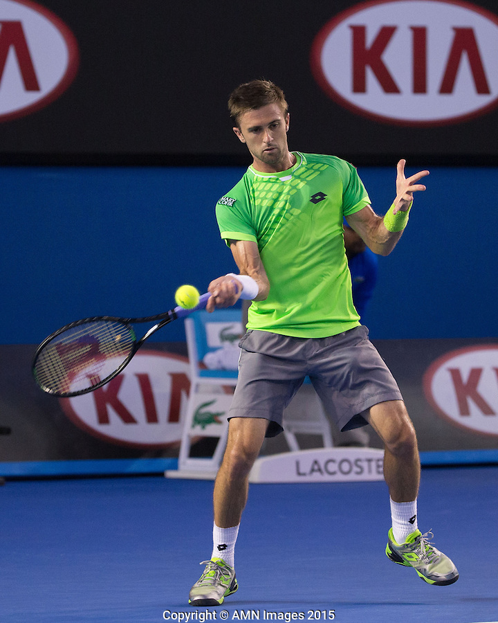 Tim Smyczek (USA)<br /> <br /> Tennis - Australian Open 2015 - Grand Slam -  Melbourne Park - Melbourne - Victoria - Australia  - 21 January 2015. <br /> &copy; AMN IMAGES