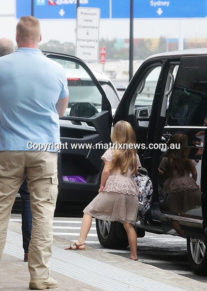 20 DECEMBER 2017 SYDNEY AUSTRALIA<br /> WWW.MATRIXNEWS.COM.AU<br /> <br /> EXCLUSIVE PICTURES<br /> <br /> The Crown Prince Frederik of Denmark and Princess Mary along with their kids leave Sydney after spending some time here for a holiday.