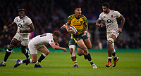 Australia's Israel Folau in action during todays match<br /> <br /> Photographer Bob Bradford/CameraSport<br /> <br /> 2018 Quilter Internationals - England v Australia - Saturday 24th November 2018 - Twickenham - London<br /> <br /> World Copyright &copy; 2018 CameraSport. All rights reserved. 43 Linden Ave. Countesthorpe. Leicester. England. LE8 5PG - Tel: +44 (0) 116 277 4147 - admin@camerasport.com - www.camerasport.com