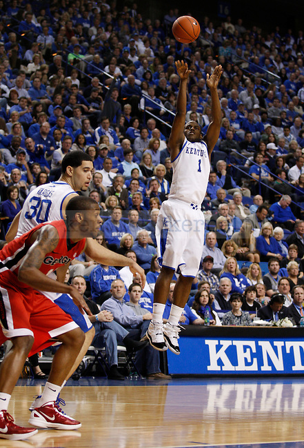 Darius Miller takes a shot during the second half of the University of Kentucky basketball game against the University of Georgia, at Rupp Arena, on March 1, 2012. UK won 79-49. Photo by Latara Appleby | Staff ..
