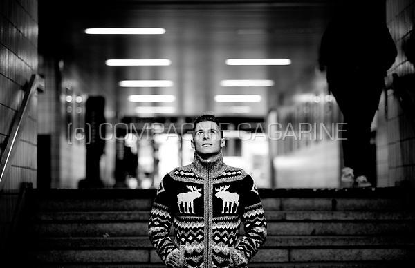 Belgian football player Thorgan Hazard in Waregem (Belgium, 20/11/2013)