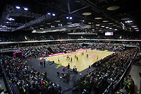 19.01.2019 Silver Ferns in action during the Silver Ferns v Australia netball test match at The Copper Box Arena. Mandatory Photo Credit ©Michael Bradley Photography/Christopher Lee