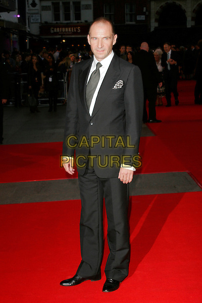 """RALPH FIENNES.""""The Duchess"""" World Film Premiere, Odeon Leicester Square, London, England..September 3rd 2008.full length black suit .CAP/AH.©Adam Houghton/Capital Pictures."""