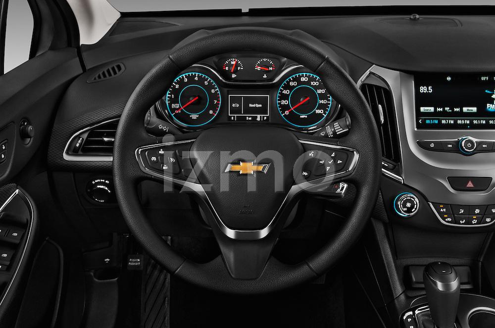 Car pictures of steering wheel view of a 2017 Chevrolet Cruze LT 5 Door Hatchback Steering Wheel