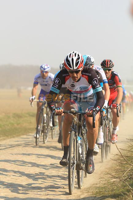 Fabian Cancellara placing his first attack