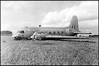 BNPS.co.uk (01202 558833)<br /> Pic: QueensFlightArchive<br /> <br /> Lucky escape - This Vickers Viking crashed near Balmoral in 1947 when delivering the Royal mail. - Fortunately no members of the Royal family were onboard.<br /> <br /> A new book gives an intimate look behind the scenes of the Royal Flight and also the flying Royals.<br /> <br /> Starting in 1917 the book charts in pictures the 100 year evolution of first the King's Flight and then later the Queen's Flight as well as the Royal families passion for aviation.<br /> <br /> Author Keith Wilson has had unprecedented access to the Queen's Flight Archives to provide a fascinating insight into both Royal and aeronautical history.